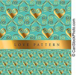 gold vector background with heart