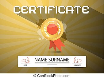 Gold Vector Certificate Layout