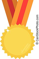 Gold vector medal with room for your text or image