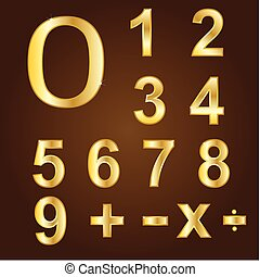 Gold vector numbers