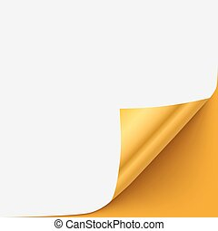 Black Cover Page Gold Corner Curl Vector Template