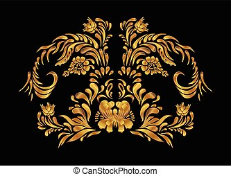 Gold vector pattern