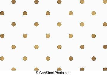 Gold vector polka dot glittery pattern background