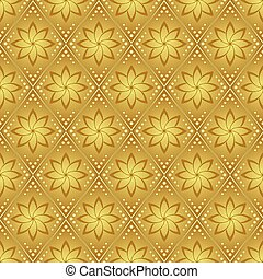 gold vector seamless pattern for background