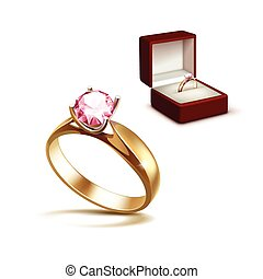 kasten ring diamant verlobung vec satz vektor. Black Bedroom Furniture Sets. Home Design Ideas