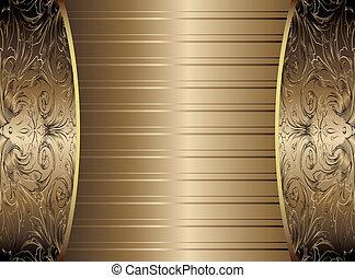 Gold Vintage Background Vector