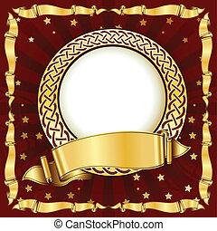 Gold vintage circle frame