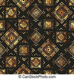 Gold vintage geometric pattern.
