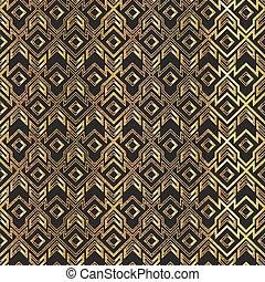 Gold vintage geometric seamless pattern.