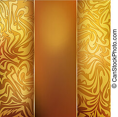 gold, vintage, vector background