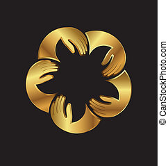Gold VIP people image logo