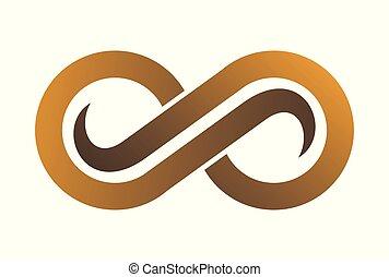 gold vision abstract logo