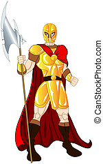Gold Warrior with spear