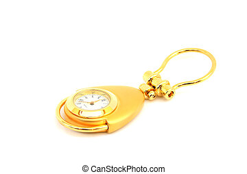 gold watch on isolated
