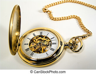 Gold Watch - Photo of a Gold Pocket Watch