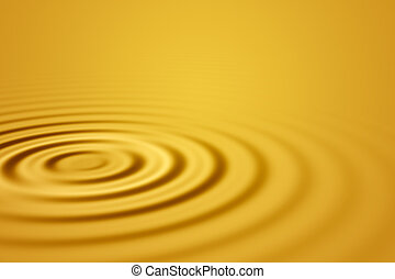 Gold waves - Colorful 3D rendered wave pattern (abstract...