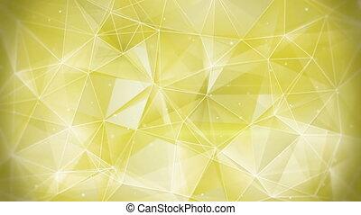 gold web geometrical background loop
