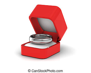 Gold wedding ring .3d illustration