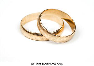 Gold wedding rings - Old wedding rings