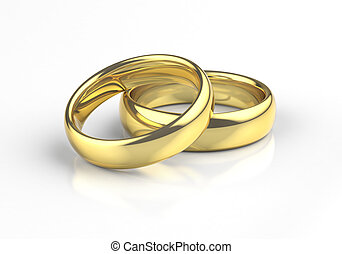 Realistic Wedding Rings Gold
