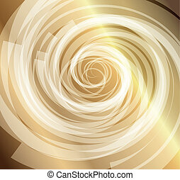 Gold whirlpool background vector