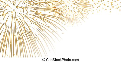 Gold white firework background