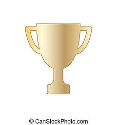 Gold winner  trophy cup. Vector