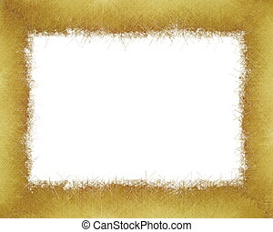 Gold winter christmas grunge frame