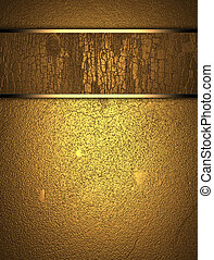 Gold wooden texture with golden name plate