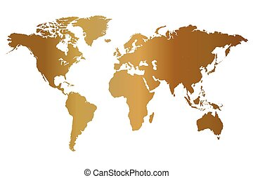 Gold world map a large map of the world embossed into a finely gold world map illustration gumiabroncs Images