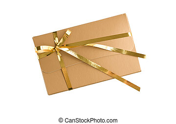 gold wrapped gift