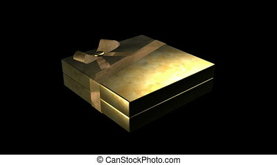 Gold Wrapped Package