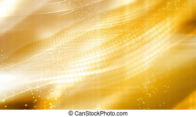 Looping gold and yellow lattice bright animated CG background