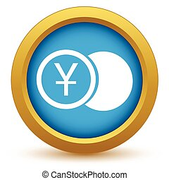 Gold yen coin icon