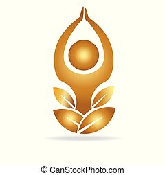 Gold yoga logo
