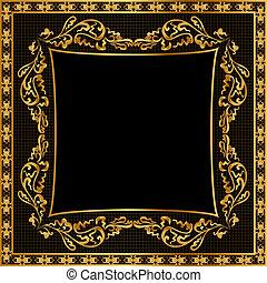 gold(en), πρότυπο , κορνίζα , εικόνα , φόντο