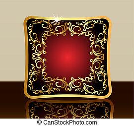 gold(en), パターン, フレーム, 反射