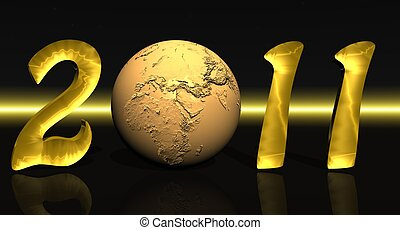 Golden 2011 with earth