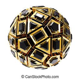 Golden 3D abstraction