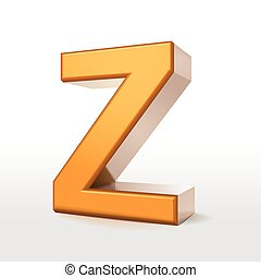 golden 3d alphabet Z