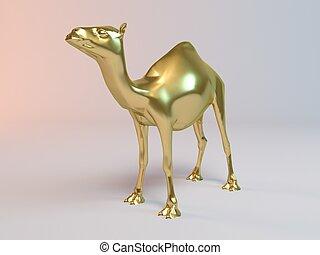Golden 3D animal (camel)