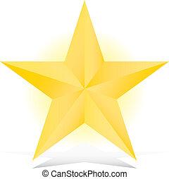 golden 3d star illustration