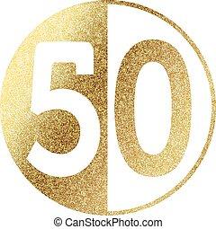 golden-50-w.eps - number 50