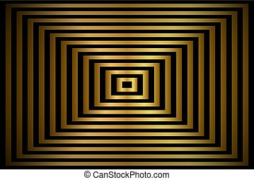 Golden abstract background, gold rectangles with shadow, vector illustration