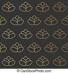 golden abstract background- vector illustration