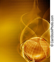 golden abstract background with copy space