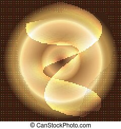 Golden Abstract circle Background