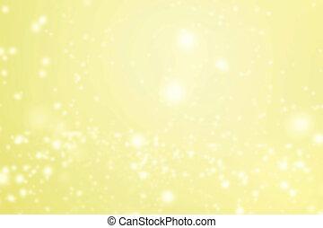Golden Abstract glittering stars on bokeh background....