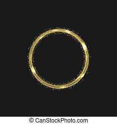Golden abstract shape