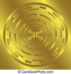 Golden Abstract technology circle